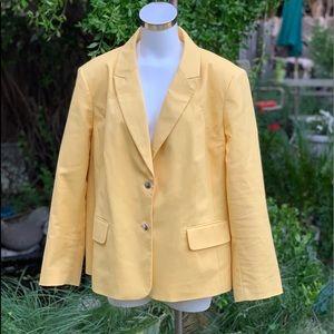 VINCE CAMUTO Yellow Classic Blazer Jacket Plus 22W
